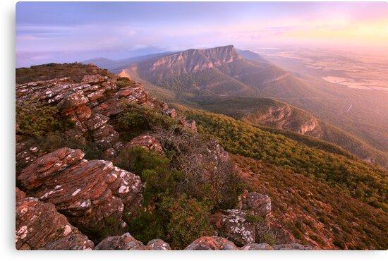 Redmans Bluff from Mt William, Grampians, Australia by Michael Boniwell