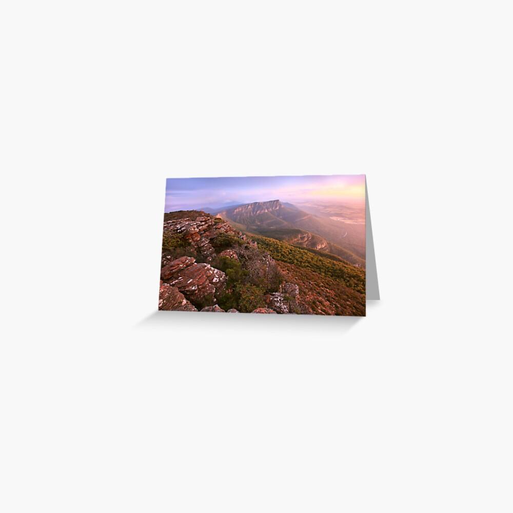 Redmans Bluff from Mt William, Grampians, Australia Greeting Card