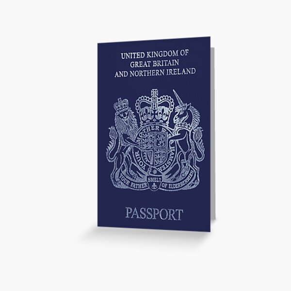 Brexit Passport Greeting Card