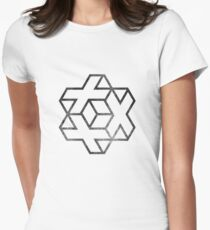 IsoCross - Black  Womens Fitted T-Shirt