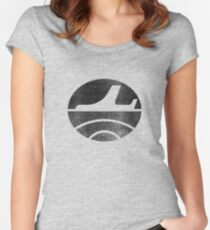 Travel - Black Women's Fitted Scoop T-Shirt