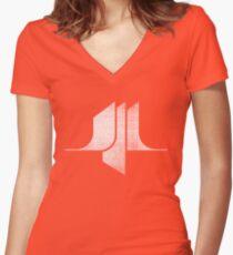 Sci-Fi - White Women's Fitted V-Neck T-Shirt