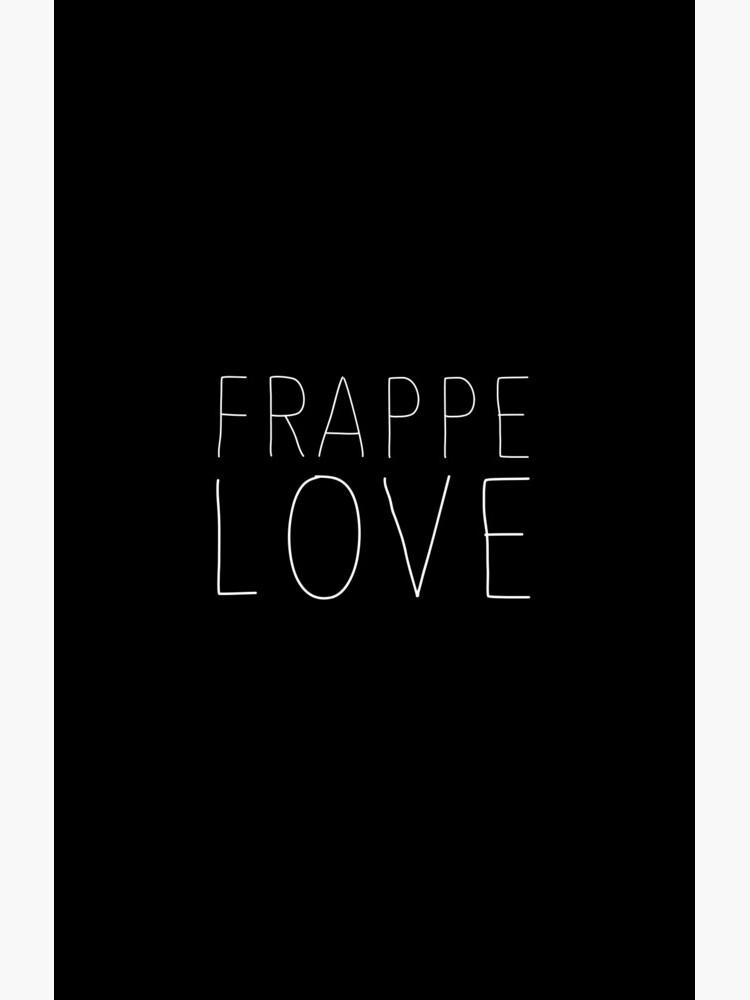 Frappe Love - Funny Iced Coffee T-Shirt for Coffee Lovers von mousenpepper