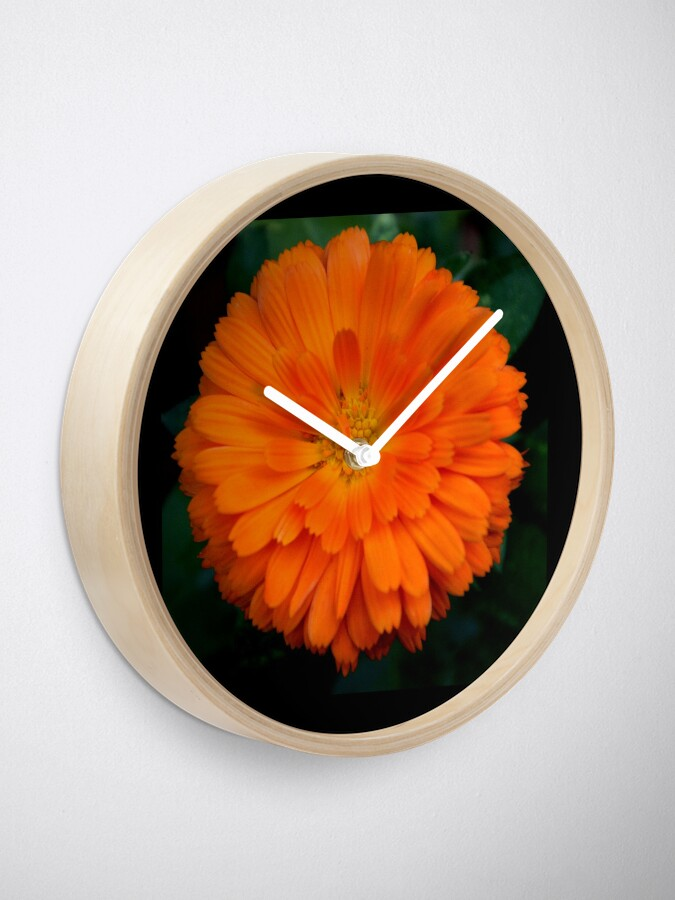 Alternate view of Orange Spray Clock
