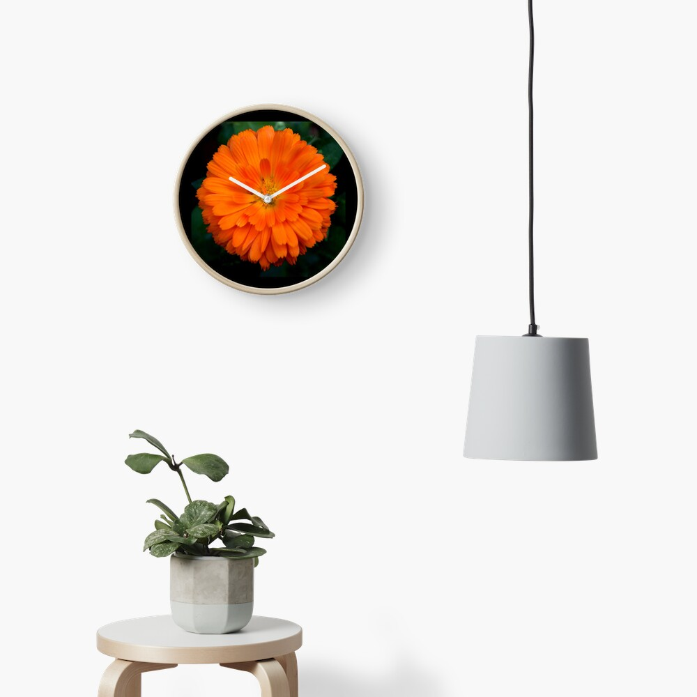Orange Spray Clock