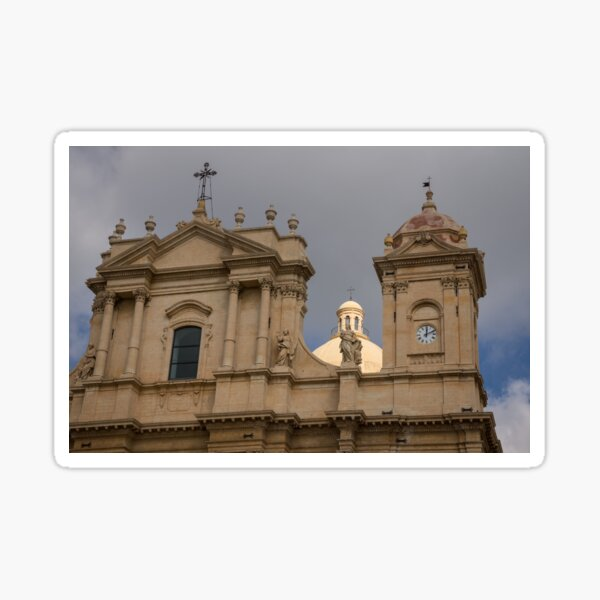 Perfectly Placed Ray of Sunshine - Noto Cathedral Saint Nicholas of Myra  Sticker