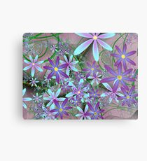 Clematis on the garden fence Metal Print
