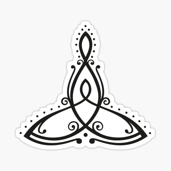 Celtic symbol, mother with child. Sticker