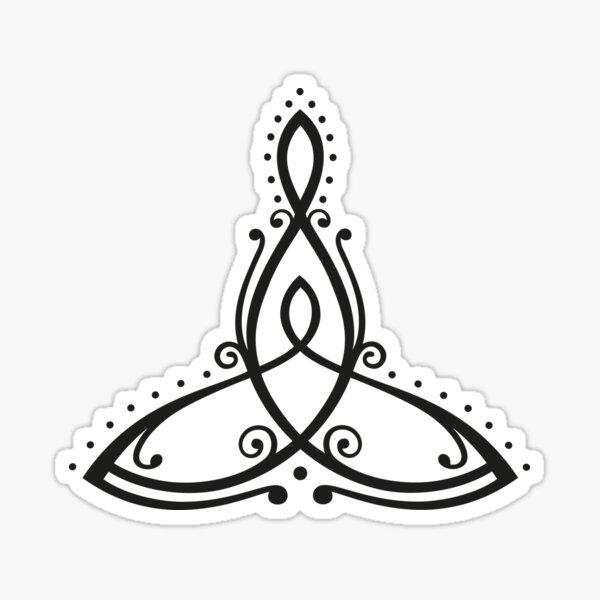 Keltisches Symbol, Mutter mit Kind. Sticker
