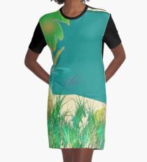 A Day At The Beach Graphic T-Shirt Dress