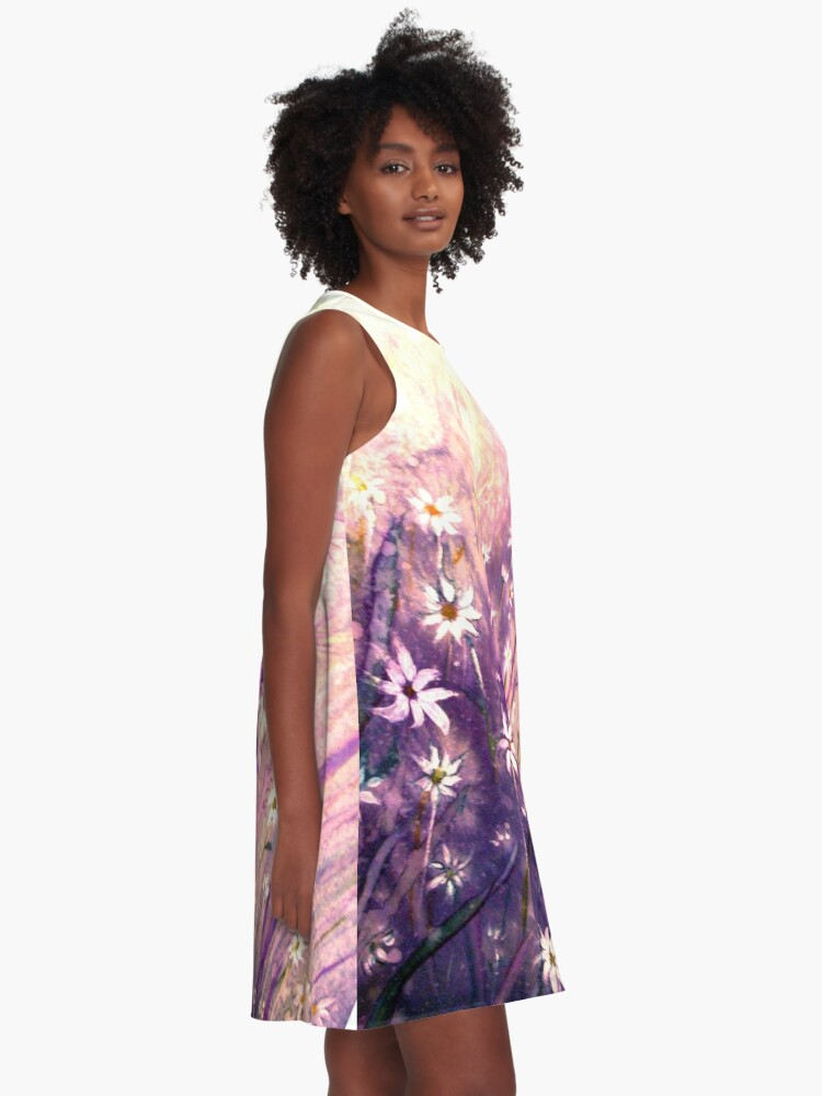 Alternate view of Just for You - Flowers A-Line Dress