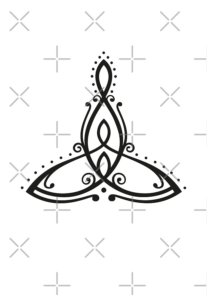 Celtic Symbol Mother With Two Children By Christine Krahl Redbubble