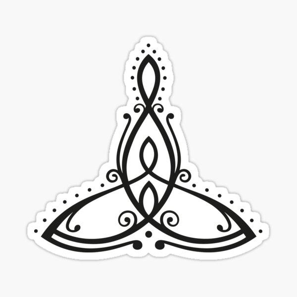 Keltisches Symbol, Mutter mit zwei Kindern. Sticker