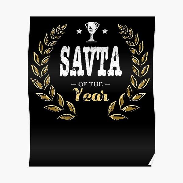 Savta Of Year Grandma Poster