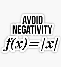 Avoid Negativity Math Equation Shirt Funny Math Teacher Gift Sticker