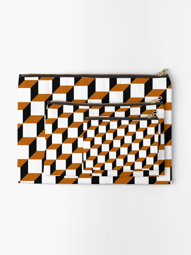 Alternate view of Cubism Squared Zipper Pouch