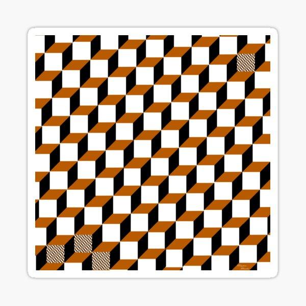Cubism Squared Sticker