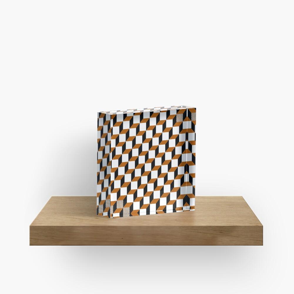 Cubism Squared Acrylic Block
