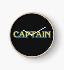 captain capcom logo Clock