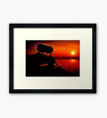 """""""The Shrouded Sunrise"""" Framed Print"""