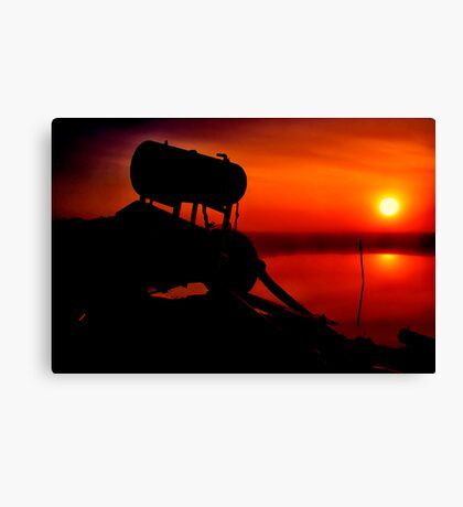 """The Shrouded Sunrise"" Canvas Print"
