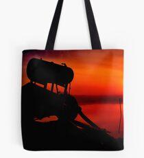 """The Shrouded Sunrise"" Tote Bag"