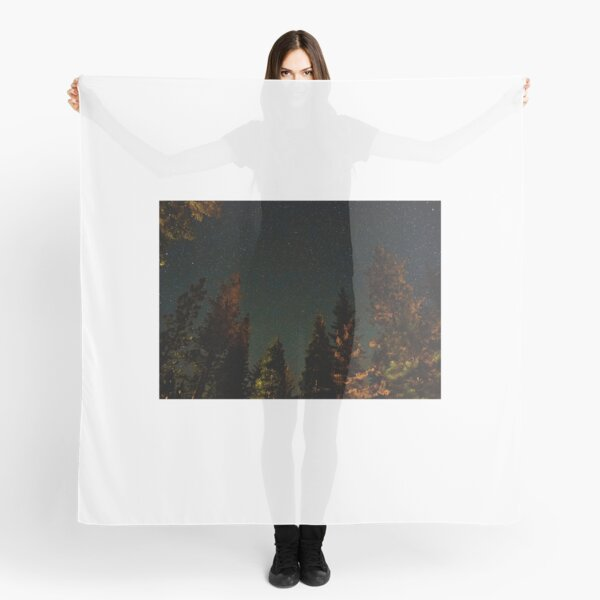 Sea of Beautiful Stars Over Forest  Scarf