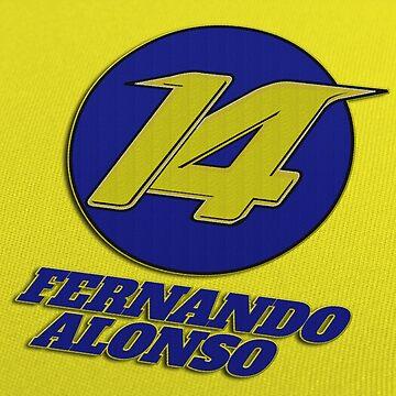Fernando Alonso #14 (Formula One Race Number) by FormulaFans