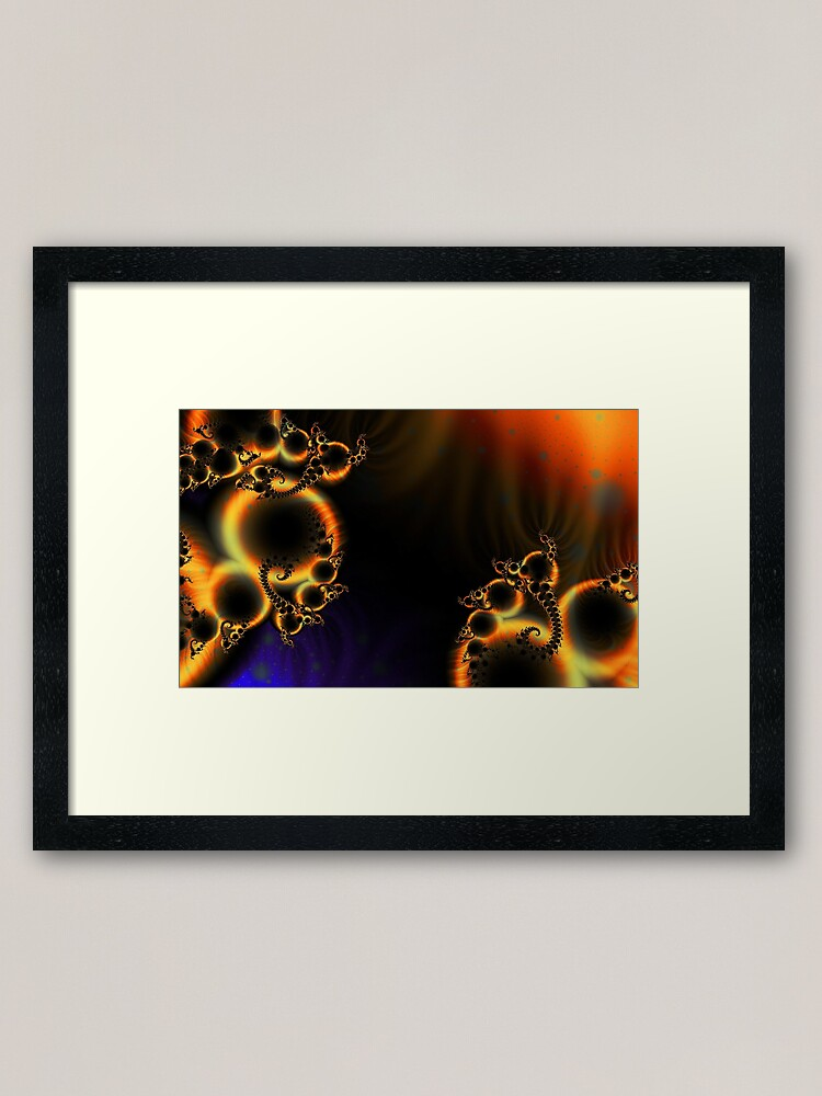 Alternate view of FractalScape Framed Art Print