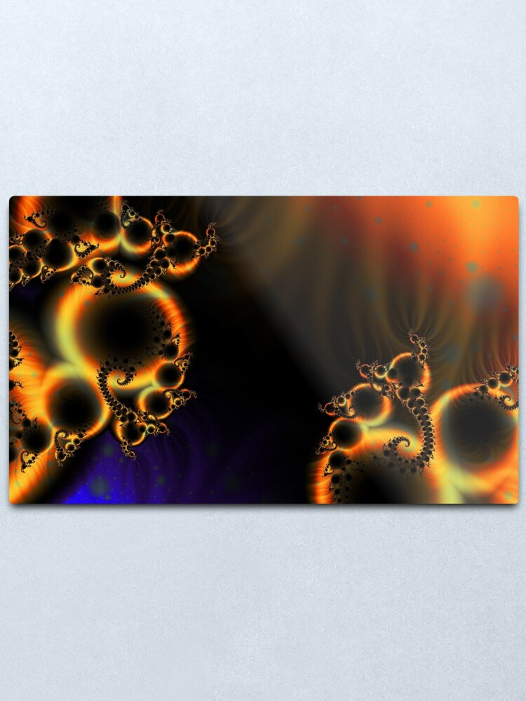 Alternate view of FractalScape Metal Print