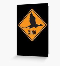 Crypto Xing - Dragon Greeting Card