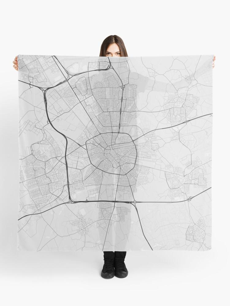Eindhoven, Netherlands Map. (Black on white) | Scarf
