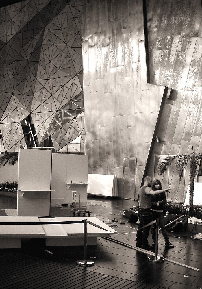 Federation Square RMIT Exhibition by Andrew  Makowiecki