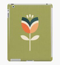Retro Tulpe - Orange und Olivgrün iPad-Hülle & Klebefolie
