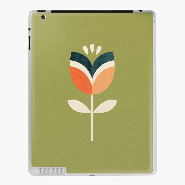 Retro Tulip - Orange and Olive Green iPad Skin