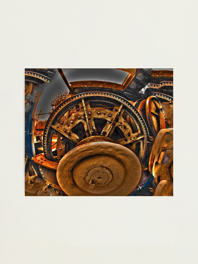 Alternate view of Mechanical Managerie of Gears Photographic Print