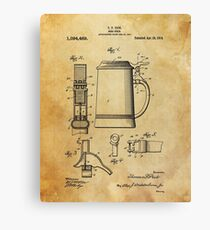 Beer patent print Canvas Print
