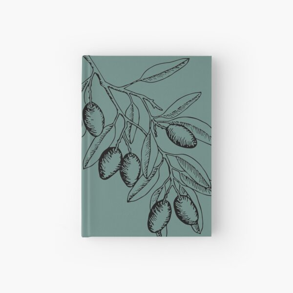 Olive branch in ink Hardcover Journal