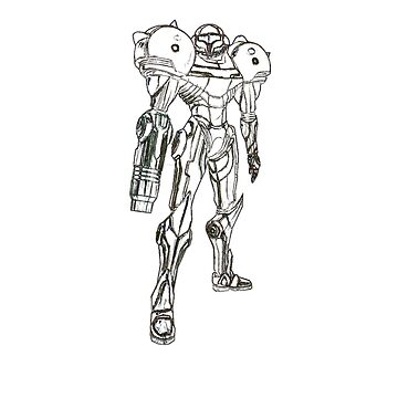 Samus Aran sketch by silentrebel