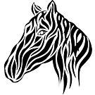 Tribal Horse Design by FreakorGeek