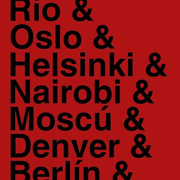 Helvetica red papel by Pescapin