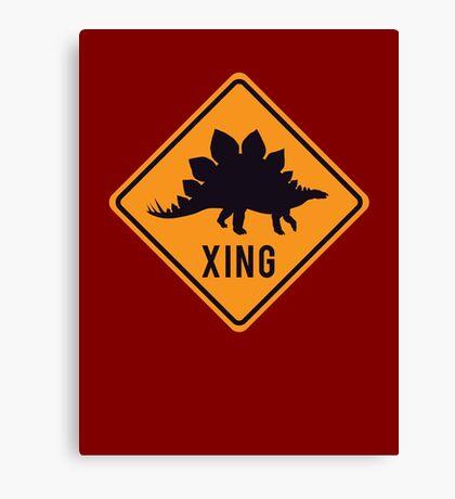 Prehistoric Xing - Stegosaurus Canvas Print