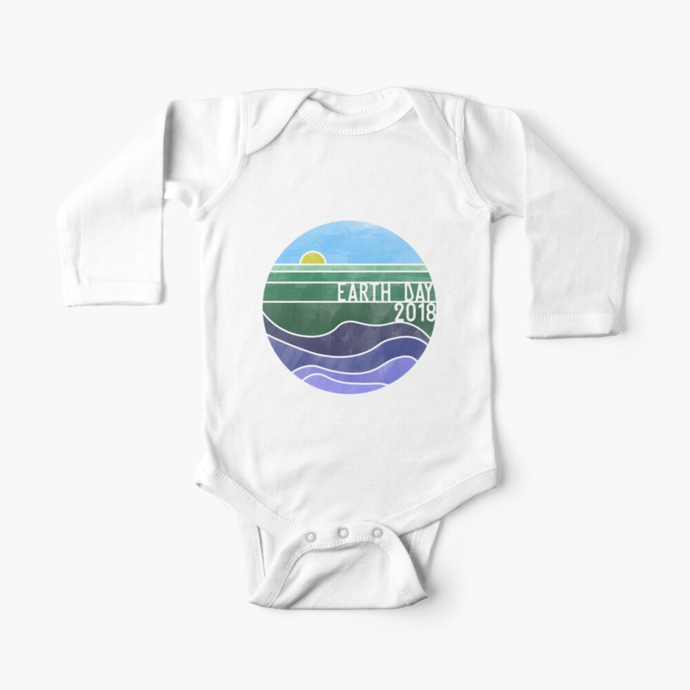 Earth Day 2018 - White Baby One-Piece