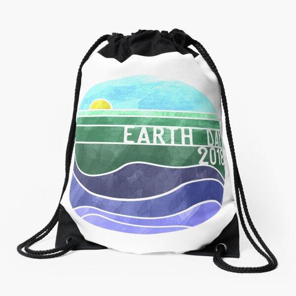 Earth Day 2018 - Transparent  Drawstring Bag