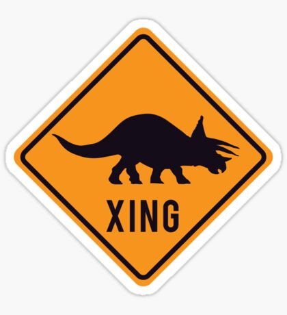 Prehistoric Xing - Triceratops Sticker