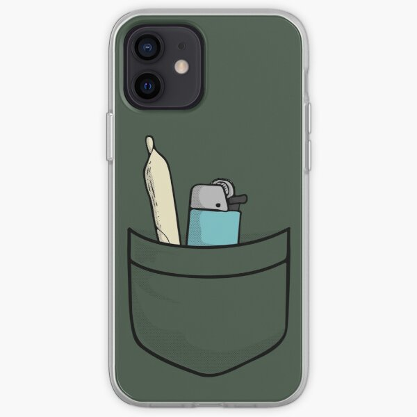 420 Always ready - weed joint of cannabis with lighter for international marijuanna day April 20 (20/04) iPhone Soft Case