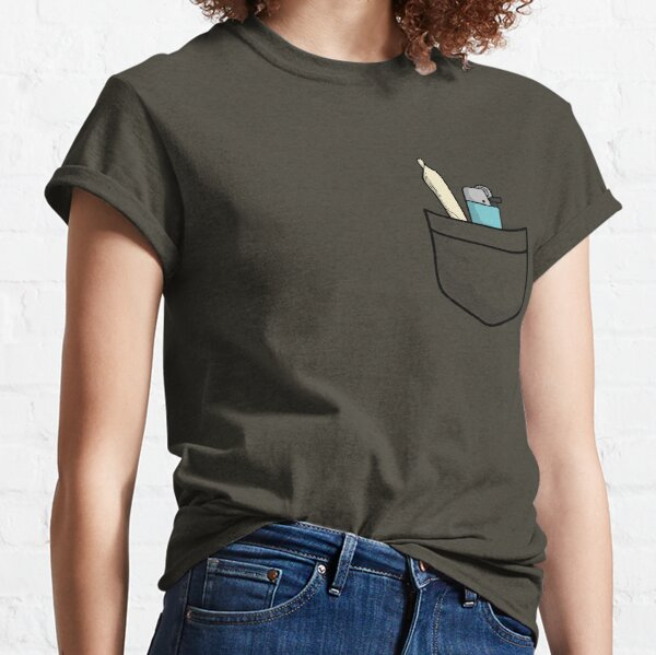 420 Always ready - weed joint of cannabis with lighter for international marijuanna day April 20 (20/04) Classic T-Shirt