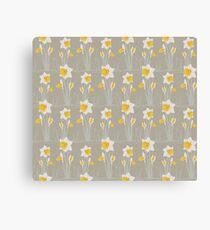 daffodils pattern Canvas Print