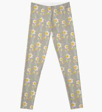 daffodils pattern Leggings