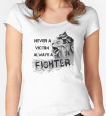 Always A Fighter Women's Fitted Scoop T-Shirt